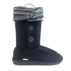 Muk Luks Women Knit Sweater Pull On Boots Size 9